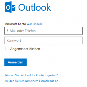 Hotmail Registrierung
